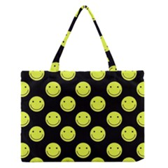 Happy Face Pattern Medium Zipper Tote Bag