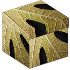 Yellow Leaf Fig Tree Texture Storage Stool 12