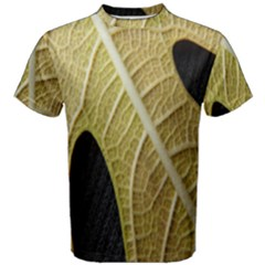 Yellow Leaf Fig Tree Texture Men s Cotton Tee