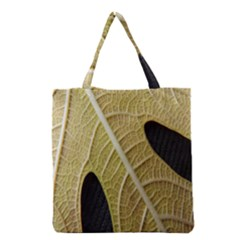 Yellow Leaf Fig Tree Texture Grocery Tote Bag