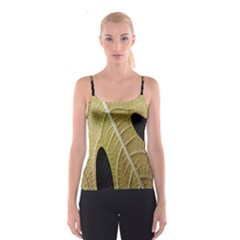 Yellow Leaf Fig Tree Texture Spaghetti Strap Top