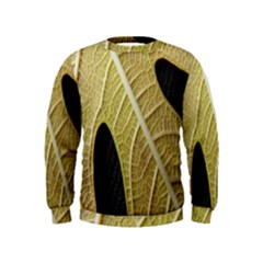 Yellow Leaf Fig Tree Texture Kids  Sweatshirt