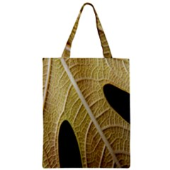 Yellow Leaf Fig Tree Texture Zipper Classic Tote Bag
