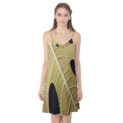 Yellow Leaf Fig Tree Texture Camis Nightgown