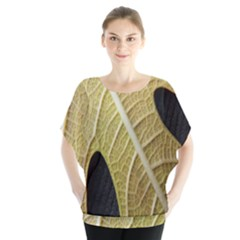 Yellow Leaf Fig Tree Texture Blouse