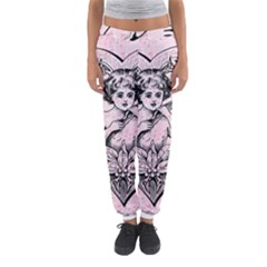 Heart Drawing Angel Vintage Women s Jogger Sweatpants