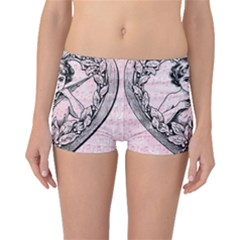 Heart Drawing Angel Vintage Boyleg Bikini Bottoms
