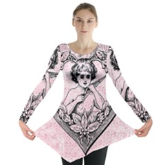 Heart Drawing Angel Vintage Long Sleeve Tunic