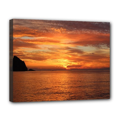 Sunset Sea Afterglow Boot Canvas 14  x 11