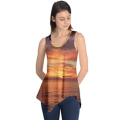 Sunset Sea Afterglow Boot Sleeveless Tunic