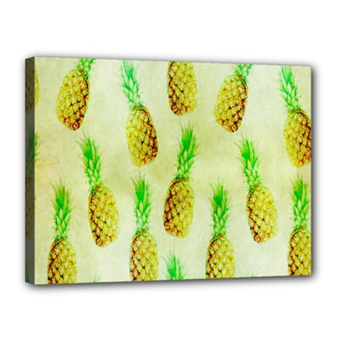 Pineapple Wallpaper Vintage Canvas 16  X 12
