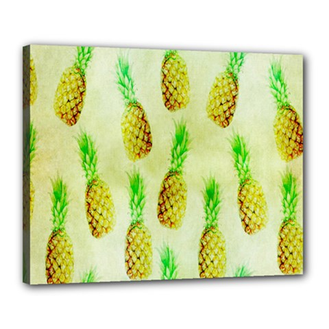 Pineapple Wallpaper Vintage Canvas 20  x 16