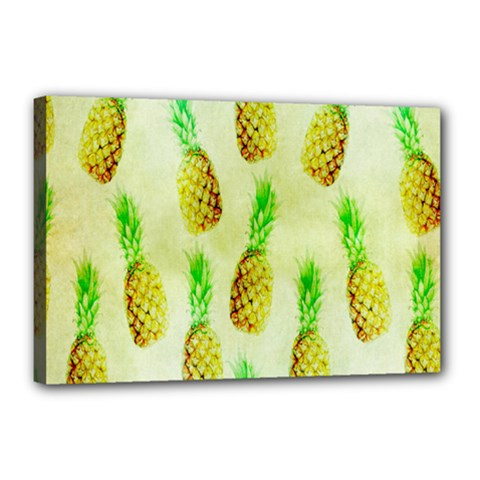 Pineapple Wallpaper Vintage Canvas 18  X 12