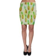 Pineapple Wallpaper Vintage Bodycon Skirt