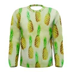 Pineapple Wallpaper Vintage Men s Long Sleeve Tee