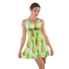 Pineapple Wallpaper Vintage Cotton Racerback Dress