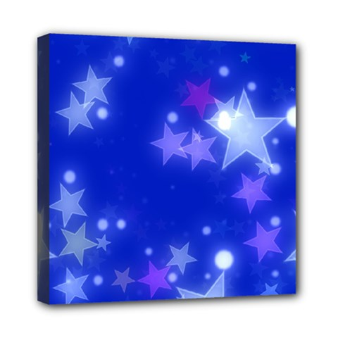 Star Bokeh Background Scrapbook Mini Canvas 8  x 8
