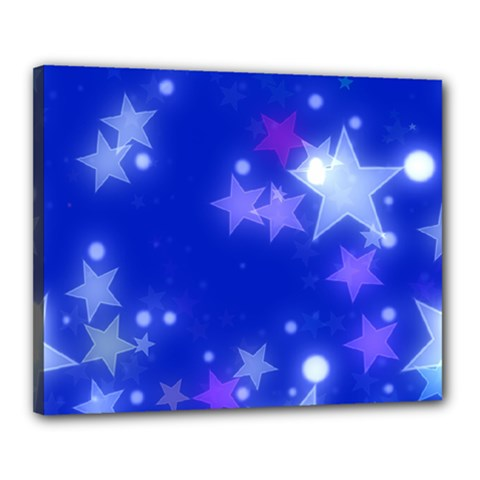 Star Bokeh Background Scrapbook Canvas 20  x 16