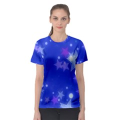 Star Bokeh Background Scrapbook Women s Sport Mesh Tee