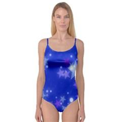 Star Bokeh Background Scrapbook Camisole Leotard