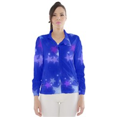Star Bokeh Background Scrapbook Wind Breaker (Women)