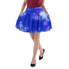 Star Bokeh Background Scrapbook A-Line Pocket Skirt