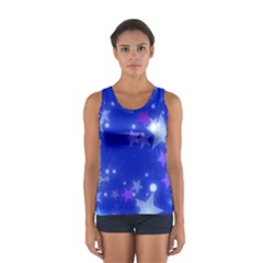 Star Bokeh Background Scrapbook Women s Sport Tank Top
