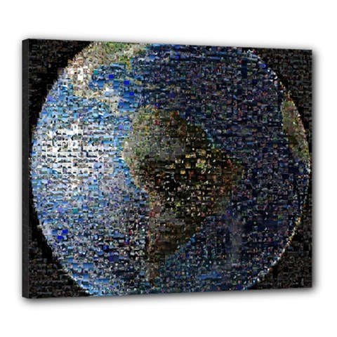 World Mosaic Canvas 24  X 20