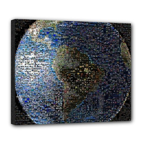 World Mosaic Deluxe Canvas 24  x 20