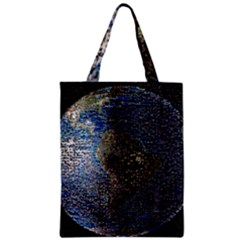 World Mosaic Zipper Classic Tote Bag