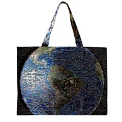 World Mosaic Large Tote Bag