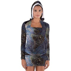 World Mosaic Women s Long Sleeve Hooded T-shirt