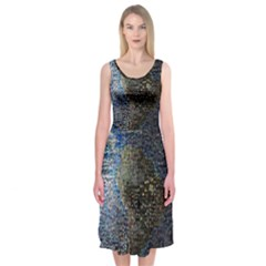 World Mosaic Midi Sleeveless Dress