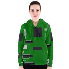 Raspberry Pi 3 Vector Women s Zipper Hoodie