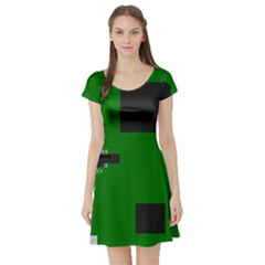 Raspberry Pi 3 Vector Short Sleeve Skater Dress