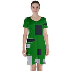 Raspberry Pi 3 Vector Short Sleeve Nightdress