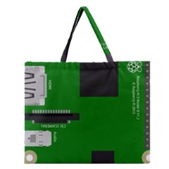 Raspberry Pi 3 Vector Zipper Large Tote Bag