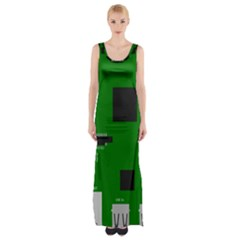 Raspberry Pi 3 Vector Maxi Thigh Split Dress