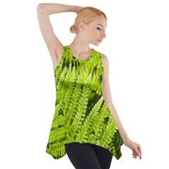 Fern Nature Green Plant Side Drop Tank Tunic