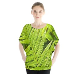 Fern Nature Green Plant Blouse