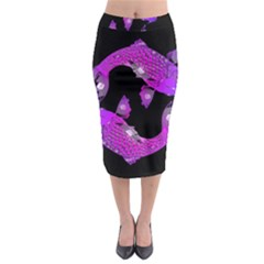 Koi Carp Fish Water Japanese Pond Midi Pencil Skirt