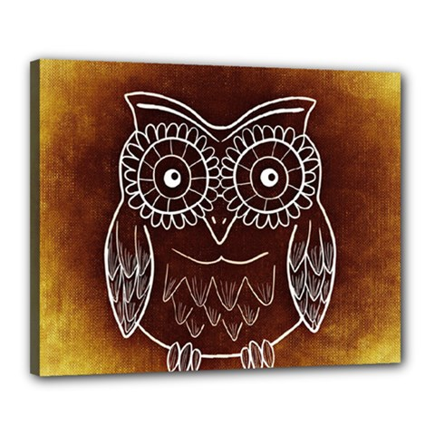 Owl Abstract Funny Pattern Canvas 20  x 16