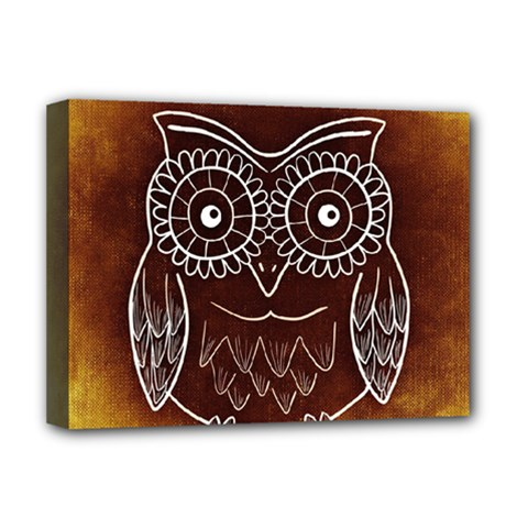 Owl Abstract Funny Pattern Deluxe Canvas 16  x 12