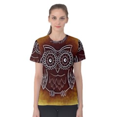 Owl Abstract Funny Pattern Women s Cotton Tee