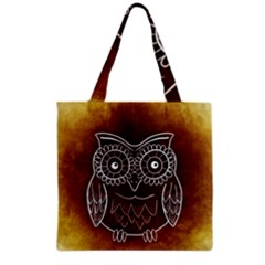 Owl Abstract Funny Pattern Grocery Tote Bag