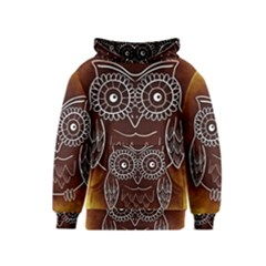 Owl Abstract Funny Pattern Kids  Pullover Hoodie