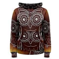 Owl Abstract Funny Pattern Women s Pullover Hoodie