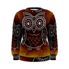 Owl Abstract Funny Pattern Women s Sweatshirt