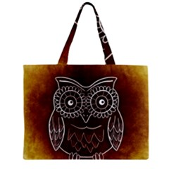 Owl Abstract Funny Pattern Zipper Mini Tote Bag