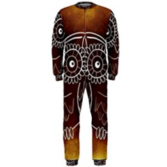 Owl Abstract Funny Pattern Onepiece Jumpsuit (men)